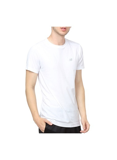 New Balance Erkek  Tişört 43767 Beyaz